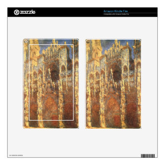 Rouen Cathedral, the Portal by Claude Monet Decal For Kindle Fire