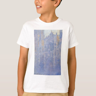 Rouen Cathedral, the Portal, Morning Fog by Claude T-Shirt