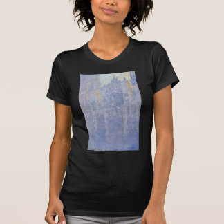 Rouen Cathedral, the Portal, Morning Fog by Claude T Shirt