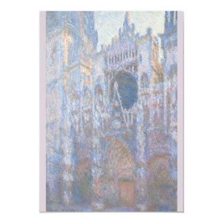 Rouen Cathedral West Facade by Claude Monet 5x7 Paper Invitation Card