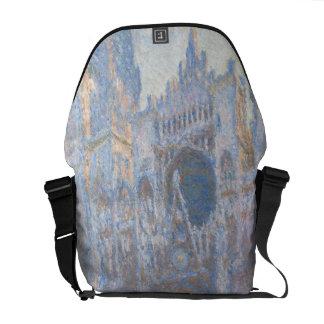 Rouen Cathedral West Facade by Claude Monet Messenger Bag
