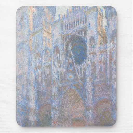 Rouen Cathedral West Facade by Claude Monet Mousepads
