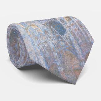 Rouen Cathedral West Facade by Claude Monet Neck Tie