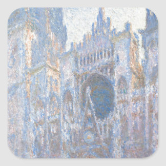 Rouen Cathedral West Facade by Claude Monet Square Stickers