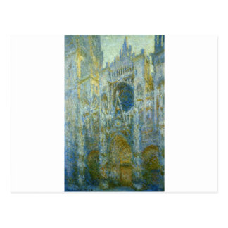 Rouen Cathedral, West Facade, Noon by Claude Monet Postcard