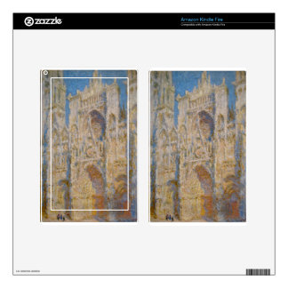 Rouen Cathedral, West Facade, Sunlight by Claude Decals For Kindle Fire