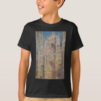 Rouen Cathedral, West Facade, Sunlight by Claude T-Shirt