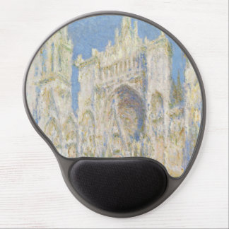 Rouen Cathedral West Facade Sunlight by Monet Gel Mouse Pad
