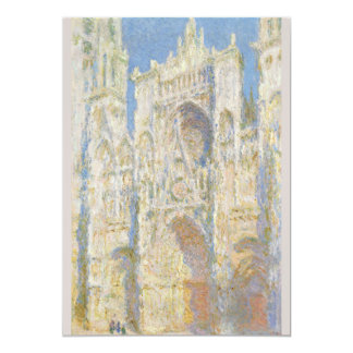 Rouen Cathedral West Facade Sunlight by Monet 5x7 Paper Invitation Card
