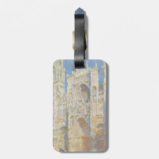 Rouen Cathedral West Facade Sunlight by Monet Luggage Tags