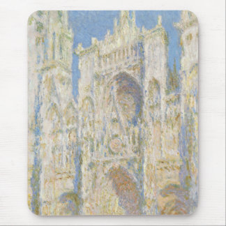 Rouen Cathedral West Facade Sunlight by Monet Mouse Pad