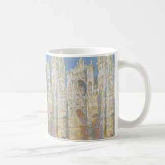 Rouen Cathedral West Facade Sunlight by Monet Mug