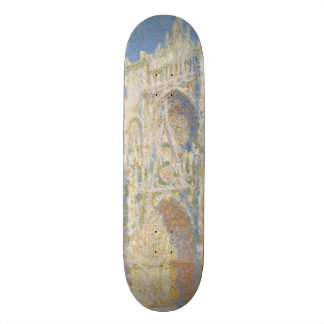 Rouen Cathedral West Facade Sunlight by Monet Skateboard