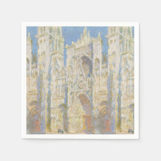Rouen Cathedral West Facade Sunlight by Monet Disposable Napkin