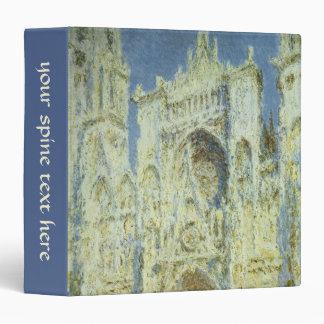 Rouen Cathedral West Facade Sunlight, Claude Monet Binder
