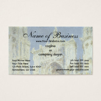 Rouen Cathedral, West Facade Sunlight Claude Monet Business Card