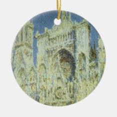 Rouen Cathedral West Facade Sunlight, Claude Monet Ceramic Ornament at Zazzle