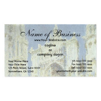 Rouen Cathedral, West Facade Sunlight Claude Monet Double-Sided Standard Business Cards (Pack Of 100)