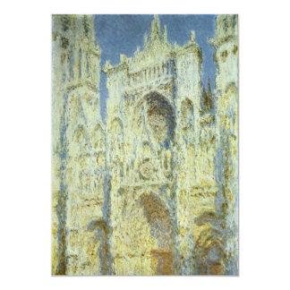 Rouen Cathedral, West Facade Sunlight Claude Monet 5x7 Paper Invitation Card