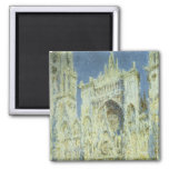Rouen Cathedral, West Facade Sunlight Claude Monet Fridge Magnet