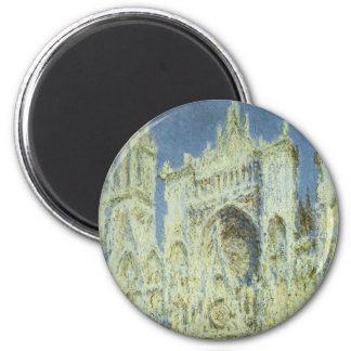 Rouen Cathedral West Facade Sunlight, Claude Monet Magnet