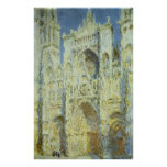 Rouen Cathedral, West Facade Sunlight Claude Monet Print