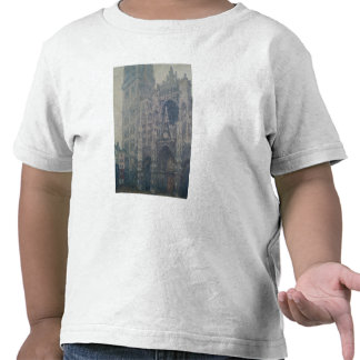 Rouen Cathedral West Portal Grey Weather 1894 T Shirts