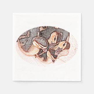rouen ducklings sketch cute baby duck paper napkin