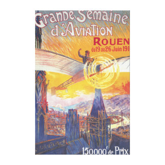 Rouen, France - Pilot and Plane Canvas Prints