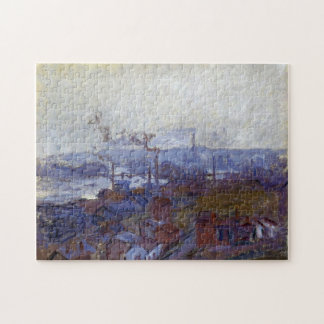 Rouen from Cote Sainte-Catherine Monet Fine Art Jigsaw Puzzle