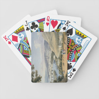 Rouen from Mont Sainte-Catherine (w/c on paper) Bicycle Playing Cards
