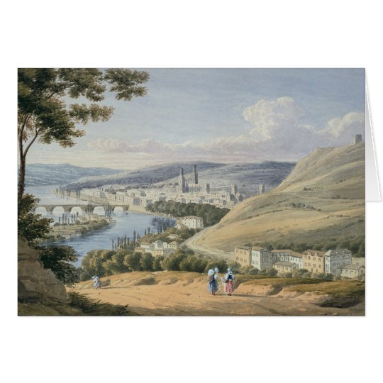 Rouen from Mont Sainte-Catherine (w/c on paper) Card