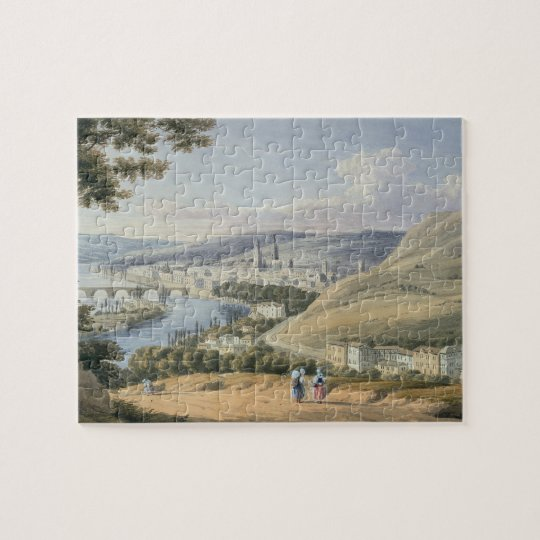 Rouen from Mont Sainte-Catherine (w/c on paper) Jigsaw Puzzle