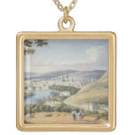Rouen from Mont Sainte-Catherine (w/c on paper) Custom Necklace