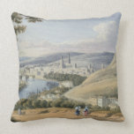 Rouen from Mont Sainte-Catherine (w/c on paper) Pillow
