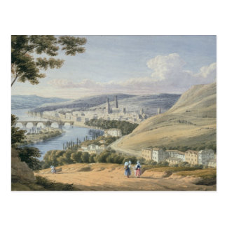 Rouen from Mont Sainte-Catherine (w/c on paper) Postcard