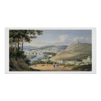 Rouen from Mont Sainte-Catherine (w/c on paper) Poster