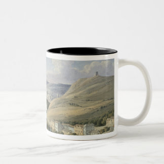 Rouen from Mont Sainte-Catherine (w/c on paper) Two-Tone Coffee Mug