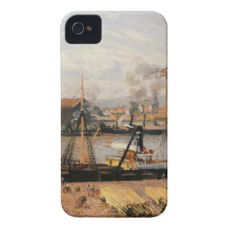 Rouen Port, Unloading Wood by Camille Pissarro iPhone 4 Case