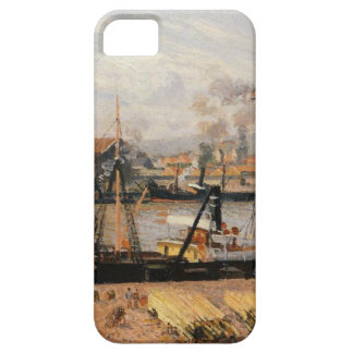 Rouen Port, Unloading Wood by Camille Pissarro iPhone SE/5/5s Case
