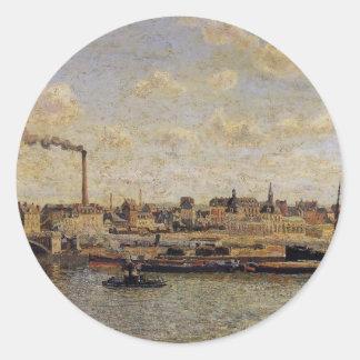 Rouen, Saint Sever, Afternoon by Camille Pissarro Classic Round Sticker