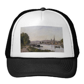 Rouen, View over the River Seine by Eugene Boudin Trucker Hat