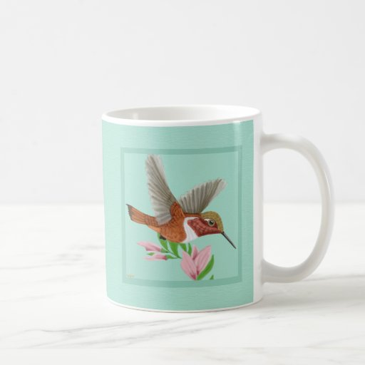 Roufus Hummingbird Classic White Coffee Mug