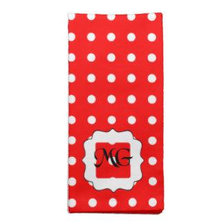 rouge à pois blanc cloth napkin