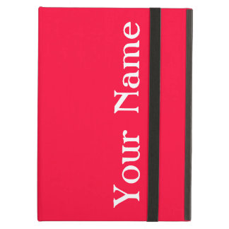 Rouge Bold Damask with name at Emporiomoffa iPad Air Covers