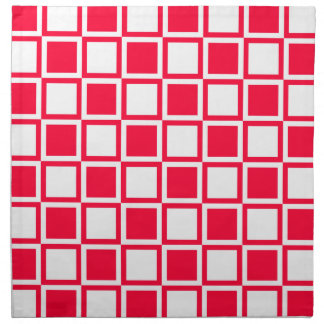 Rouge Bold Mod Squares Cloth Napkin
