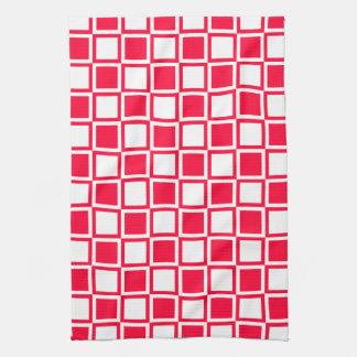 Rouge Bold Mod Squares Kitchen Towel
