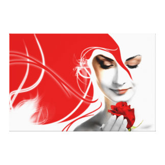 Rouge Fortuniana Stretched Canvas Prints