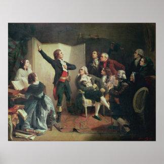 Rouget de Lisle que canta el Marseillaise Impresiones