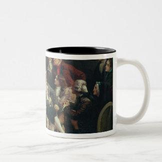 Rouget de Lisle  singing the Marseillaise Two-Tone Coffee Mug